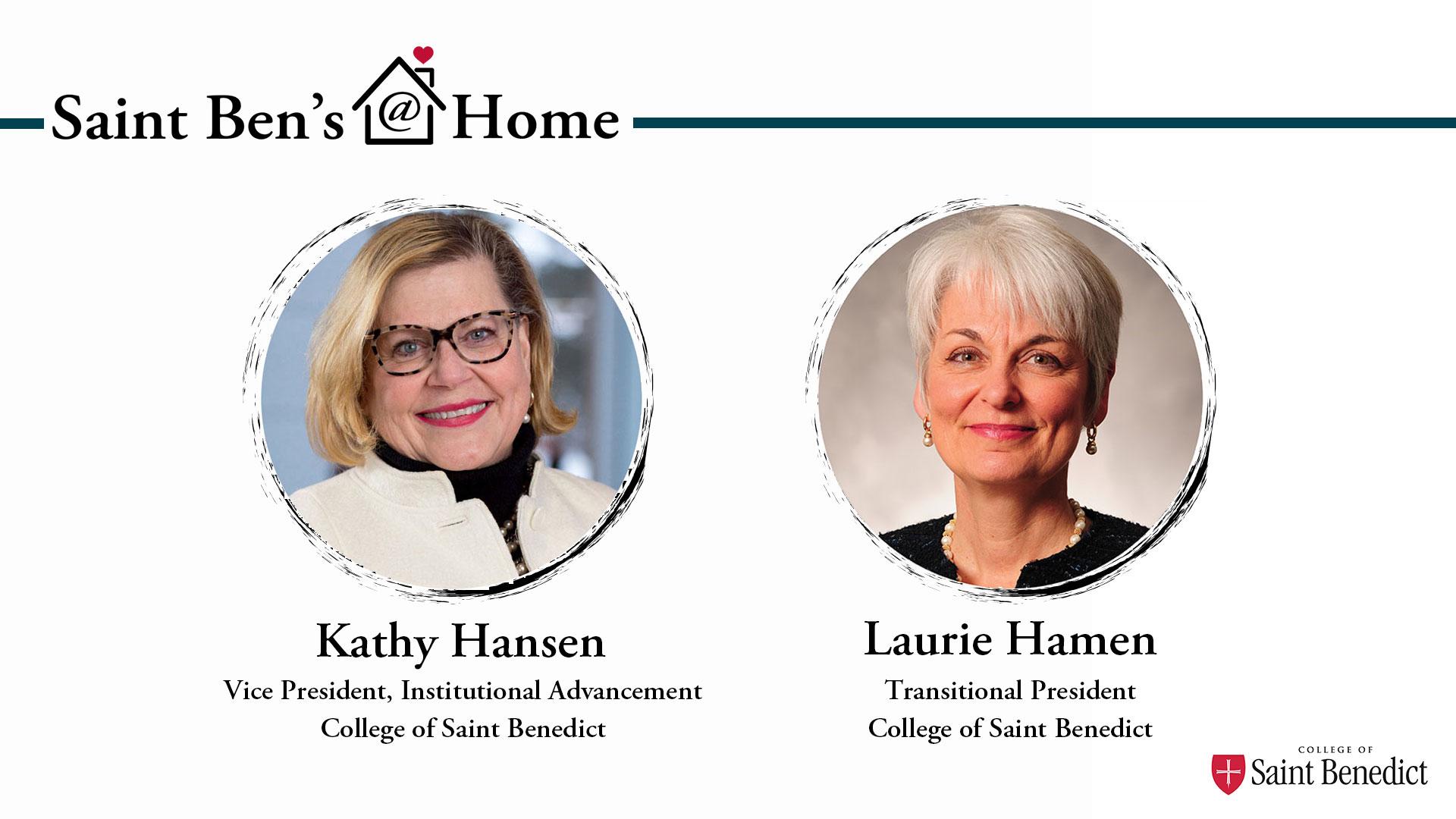 Image for Saint Ben's @ Home: Laurie Hamen's Fall Semester Snapshot webinar