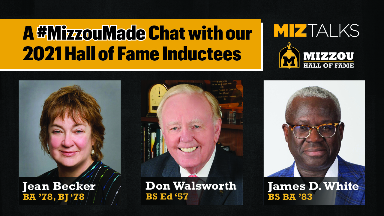 Image for A #MizzouMade Chat with our 2021 Hall of Fame Inductees webinar