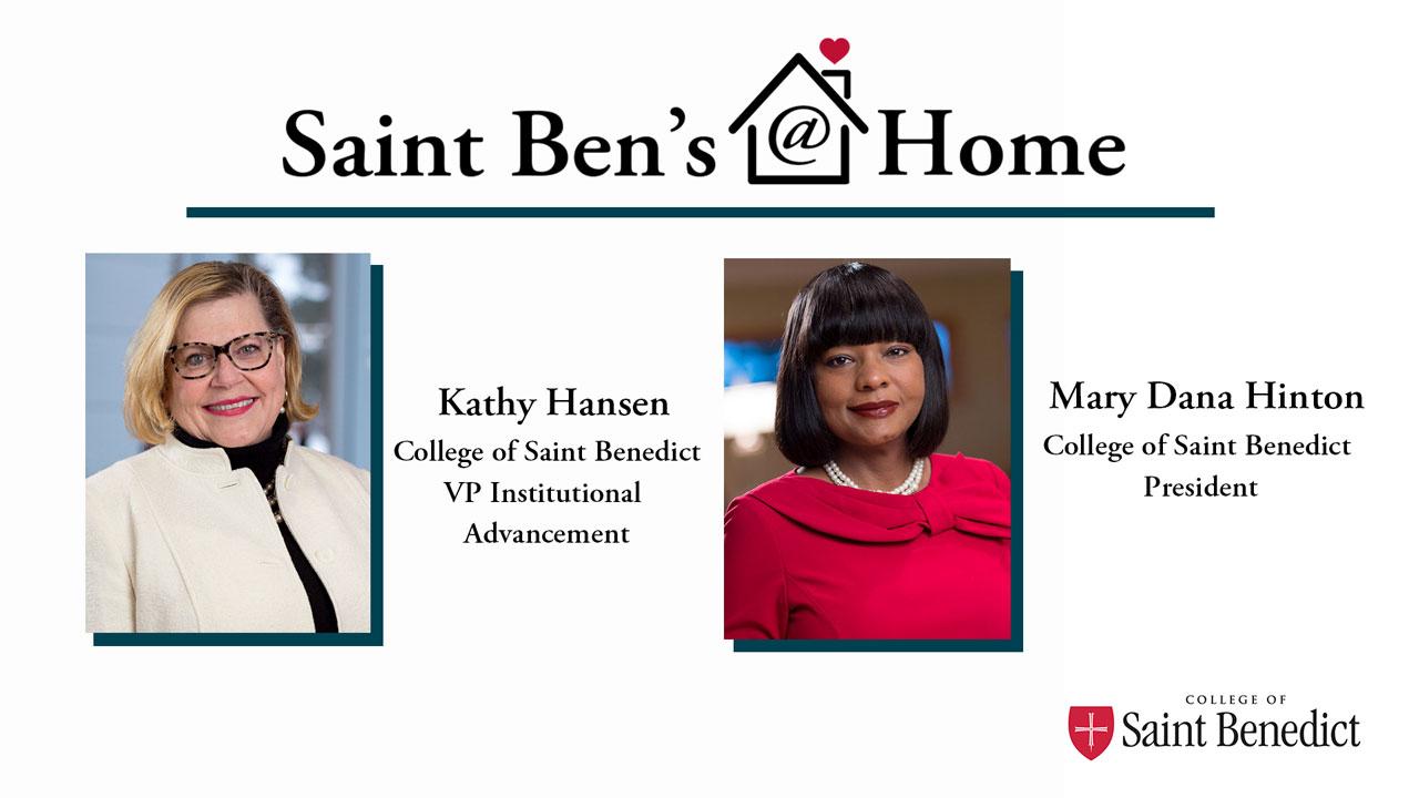 Image for Saint Ben's @ Home: A Conversation with President Mary Dana Hinton webinar