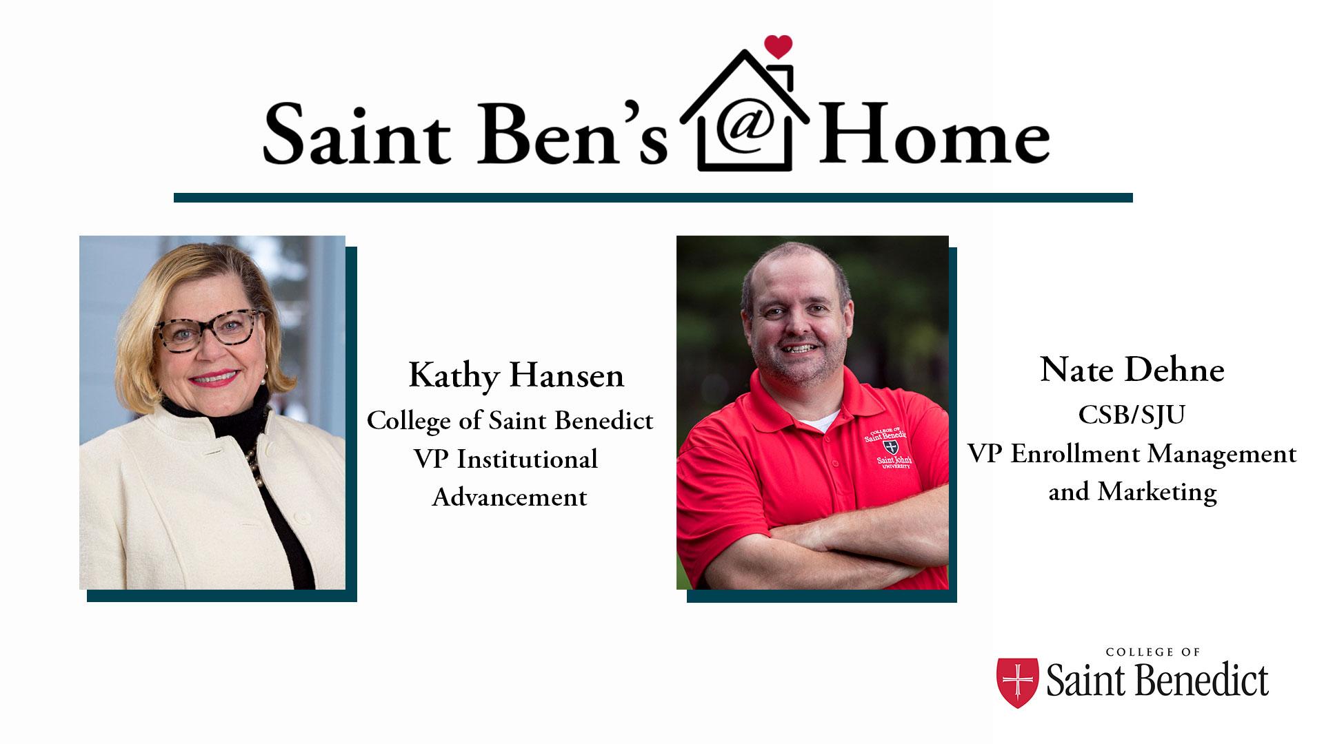 Image for Saint Ben's @ Home: A Conversation with Nate Dehne webinar