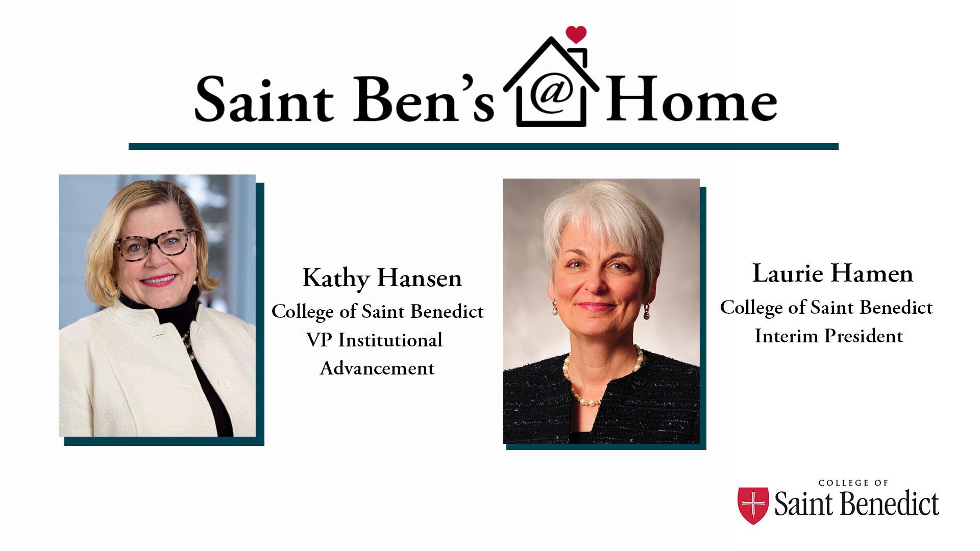 Image for Saint Ben's @ Home: A Conversation with Interim President Laurie Hamen webinar