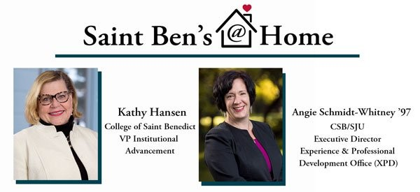 Image for Saint Ben's @ Home: A Conversation with Angie Schmidt Whitney webinar