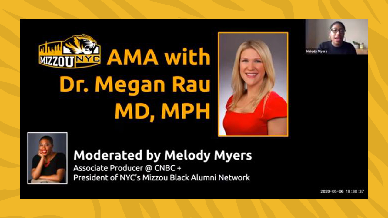 Image for From the Health Care Front Lines: A Conversation with Mizzou Grad Dr. Megan Rau webinar