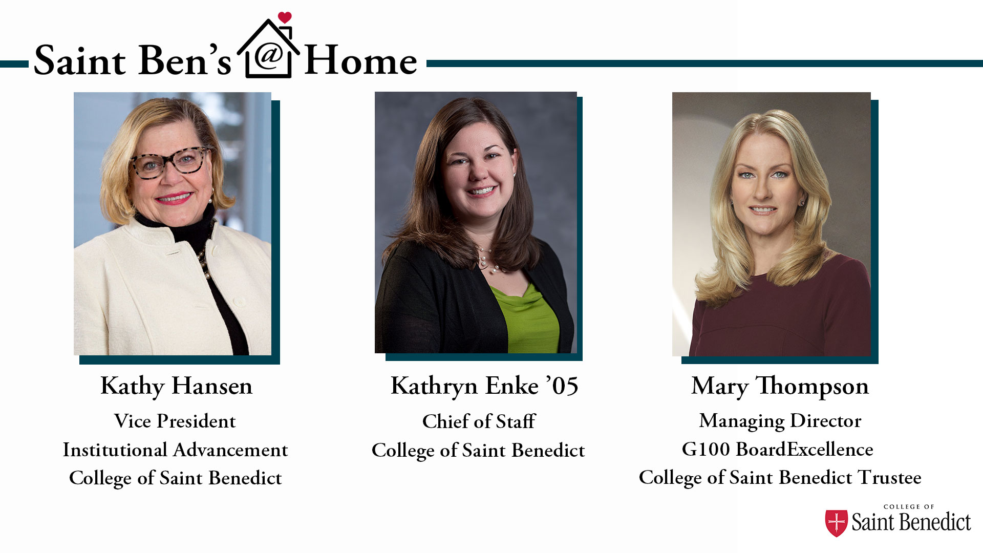 Image for Saint Ben's @ Home: What it Means to be a College for Women webinar