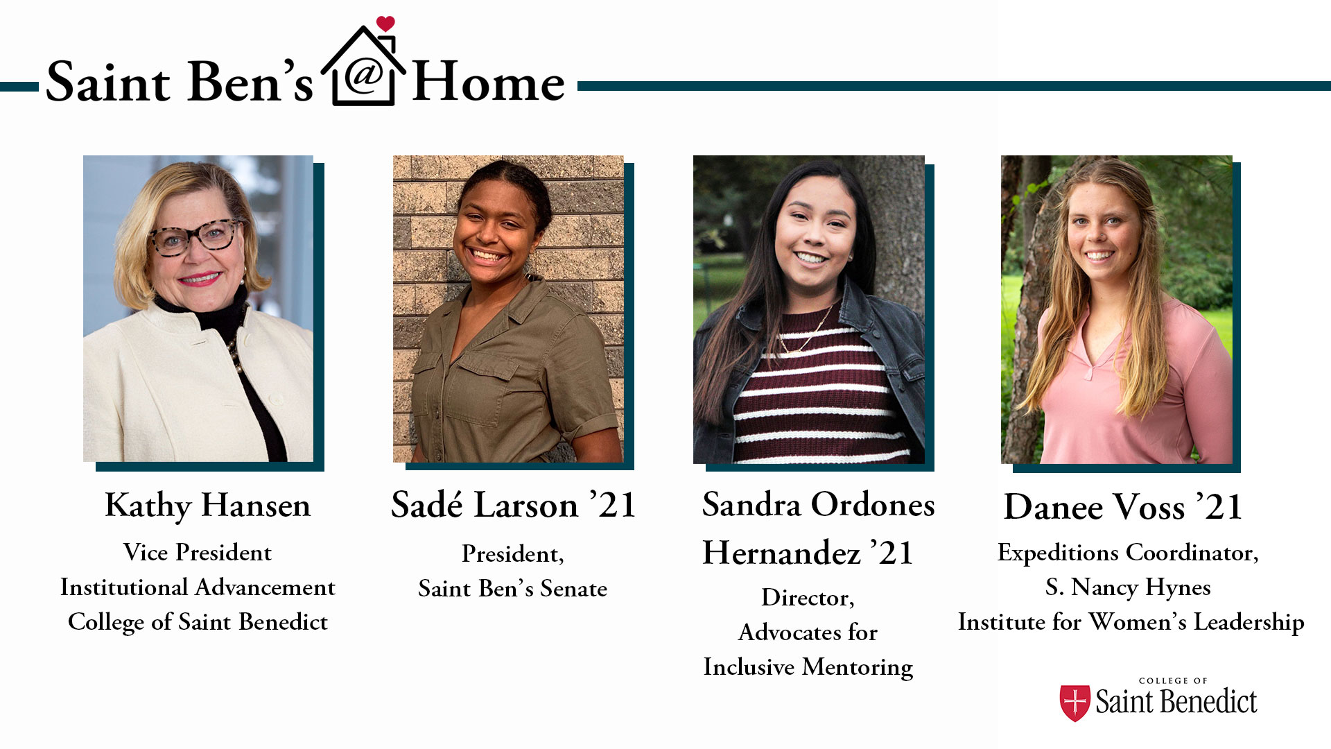Image for Saint Ben's @ Home: The CSB Student Experience webinar