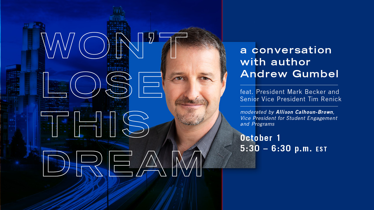 Image for Won't Lose This Dream: A Conversation with Author Andrew Gumbel webinar
