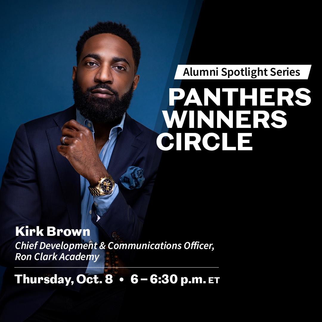 Image for Young Alumni Council Presents: Panthers Winners Circle: Alumni Spotlight Series webinar
