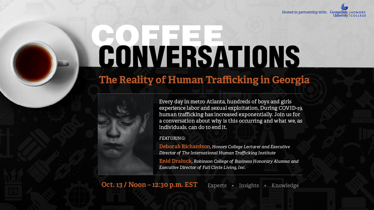 Image for Coffee Conversations: The Reality of Human Trafficking in Georgia webinar