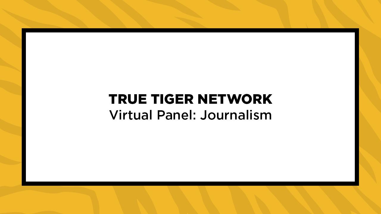 Image for True Tiger Network Virtual Panel: Journalism webinar