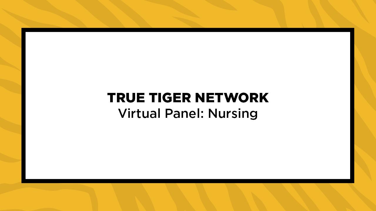 Image for True Tiger Network Virtual Panel: Nursing webinar
