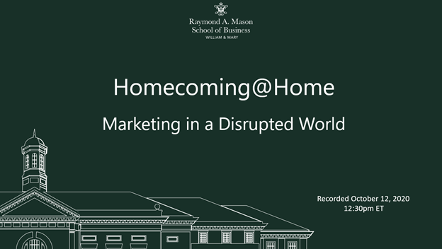 Image for Homecoming@Home: Marketing in a Disruptive World webinar