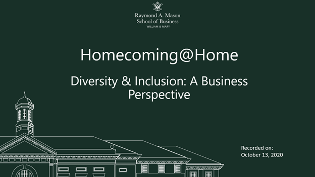 Image for Homecoming@Home Diversity and Inclusion: A Business Perspective webinar