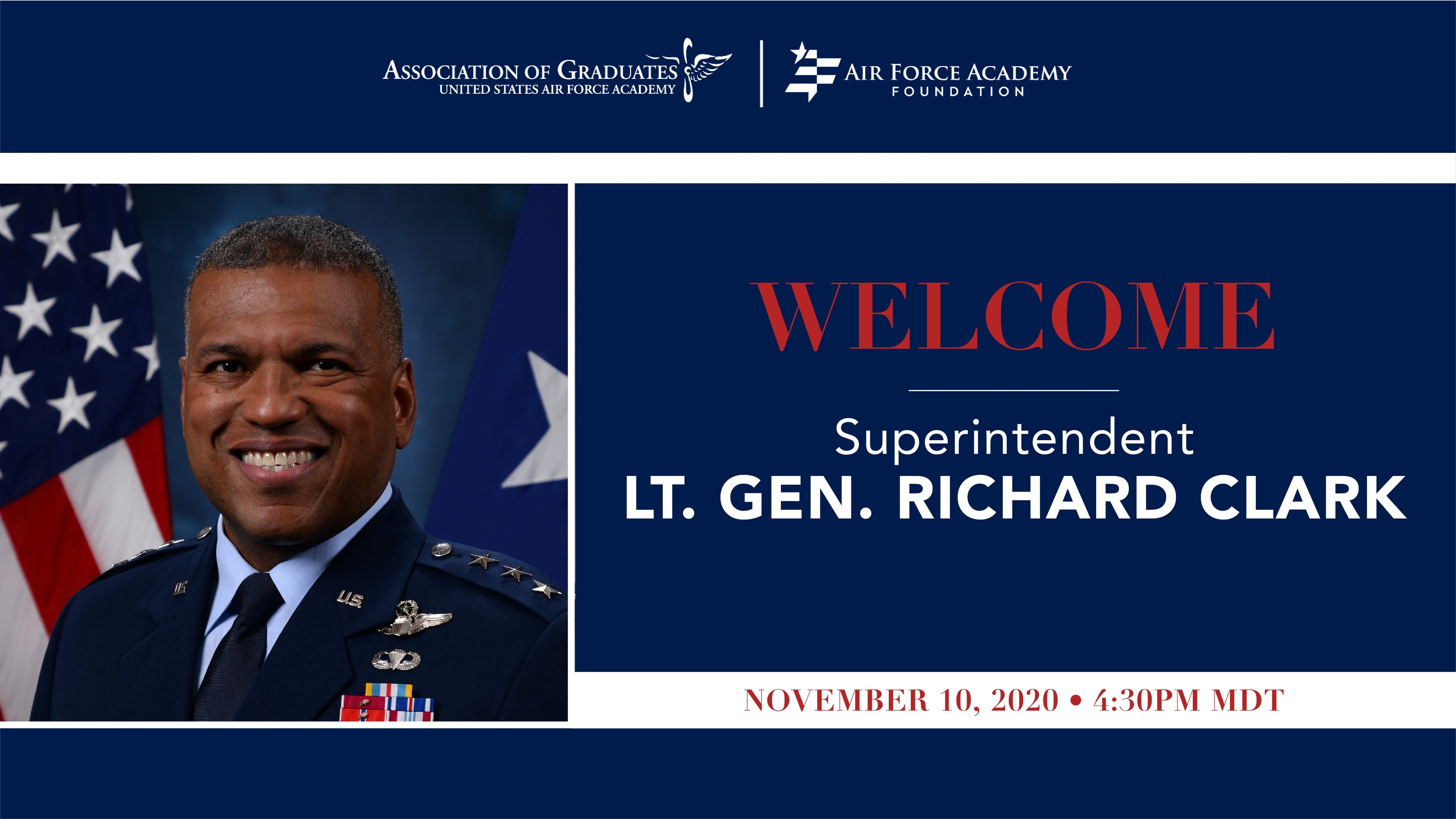 Image for Welcome Call for Lt. Gen. Richard Clark webinar