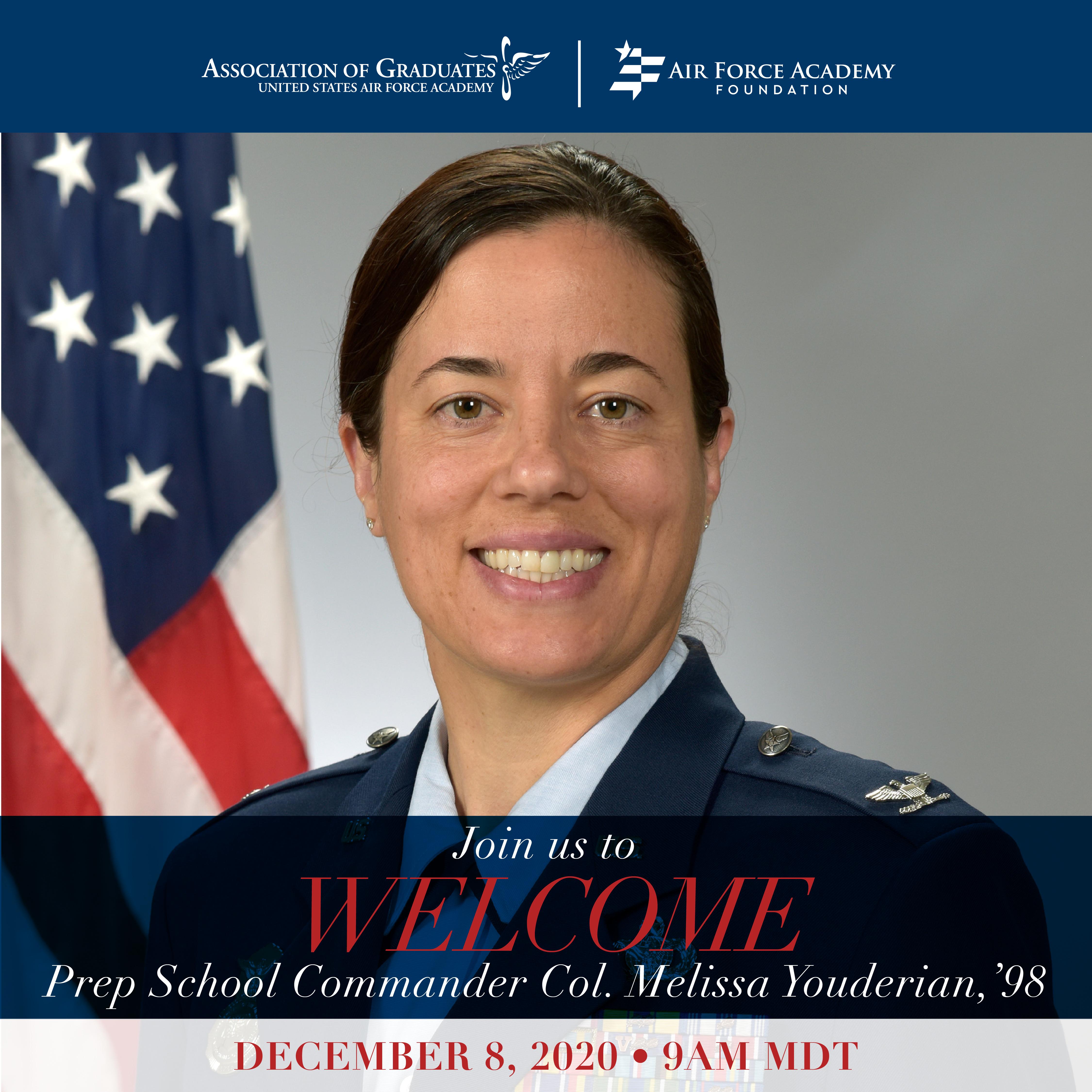 Image for Col Youderian, USAFA Prep School Commander Welcome Call webinar