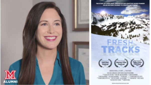 """Image for Miami Presents: """"Fresh Tracks"""" documentary and panel with Katie Leimkuehler '07 webinar"""