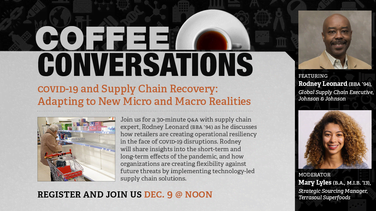 Image for Coffee Conversation - COVID-19 and Supply Chain Recovery: Adapting to New Micro and Macro Realities webinar