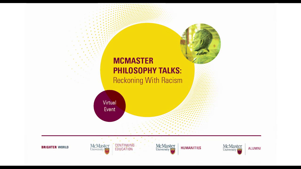 Image for McMaster Philosophy Talks: Reckoning with Racism webinar
