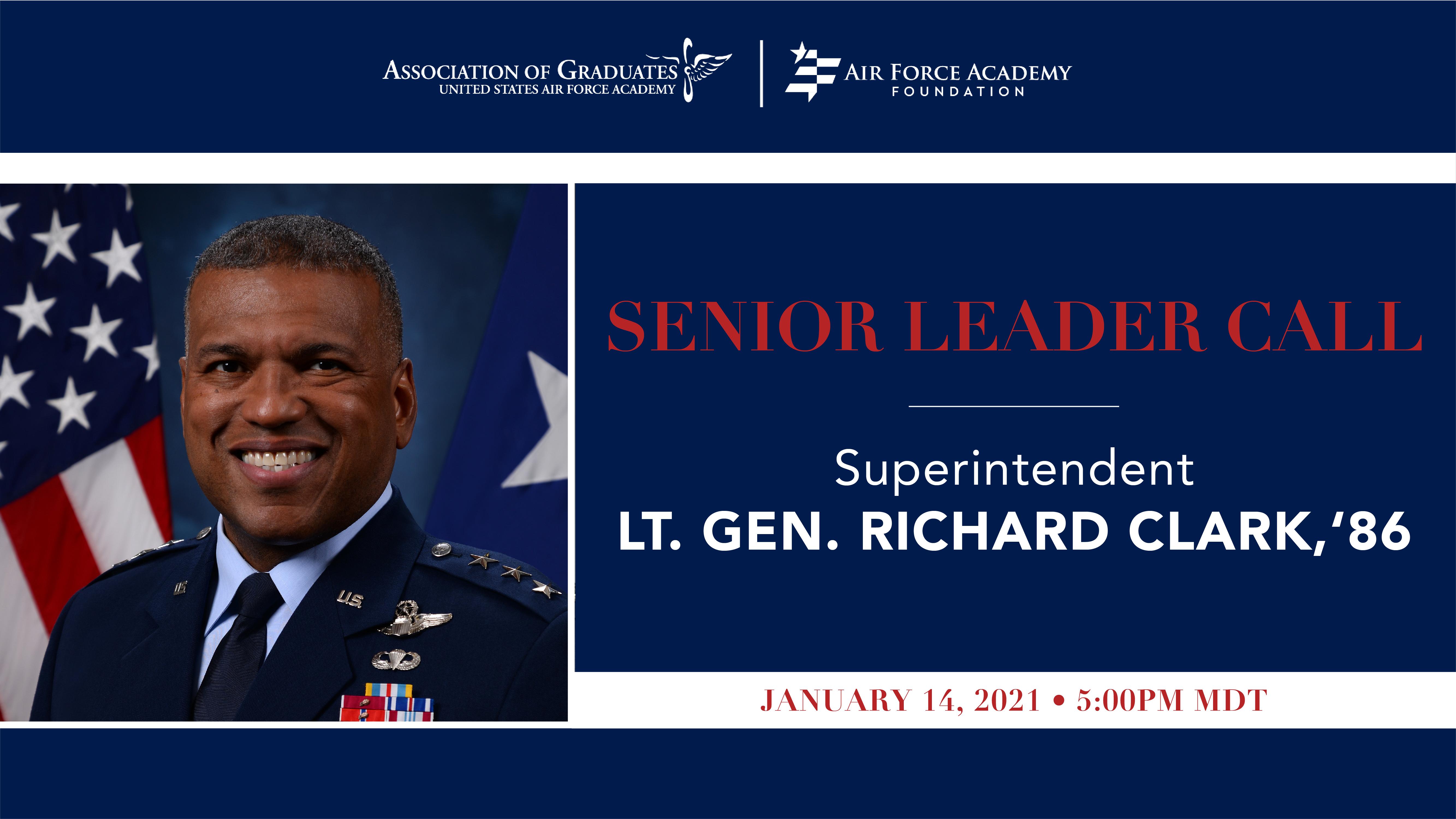 Image for Lt Gen Clark Senior Leader Call webinar