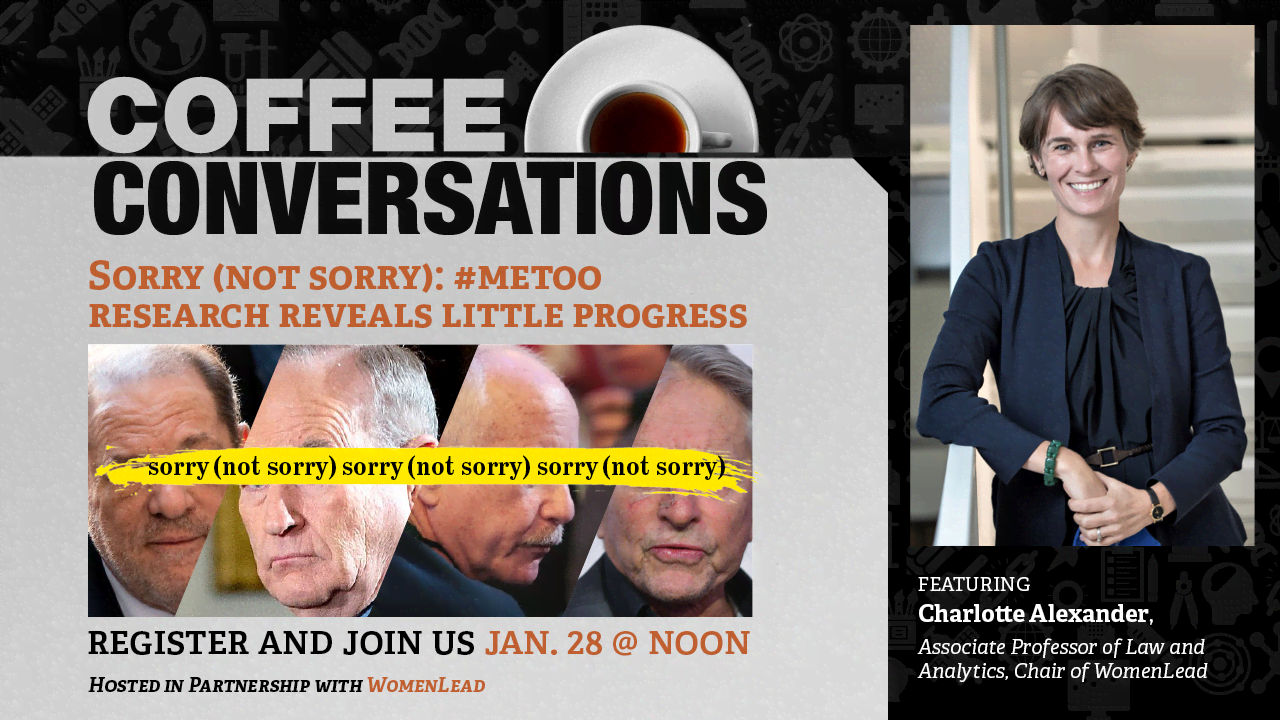 Image for Coffee Conversation - Sorry (Not Sorry): #MeToo Research Reveals Little Progress webinar