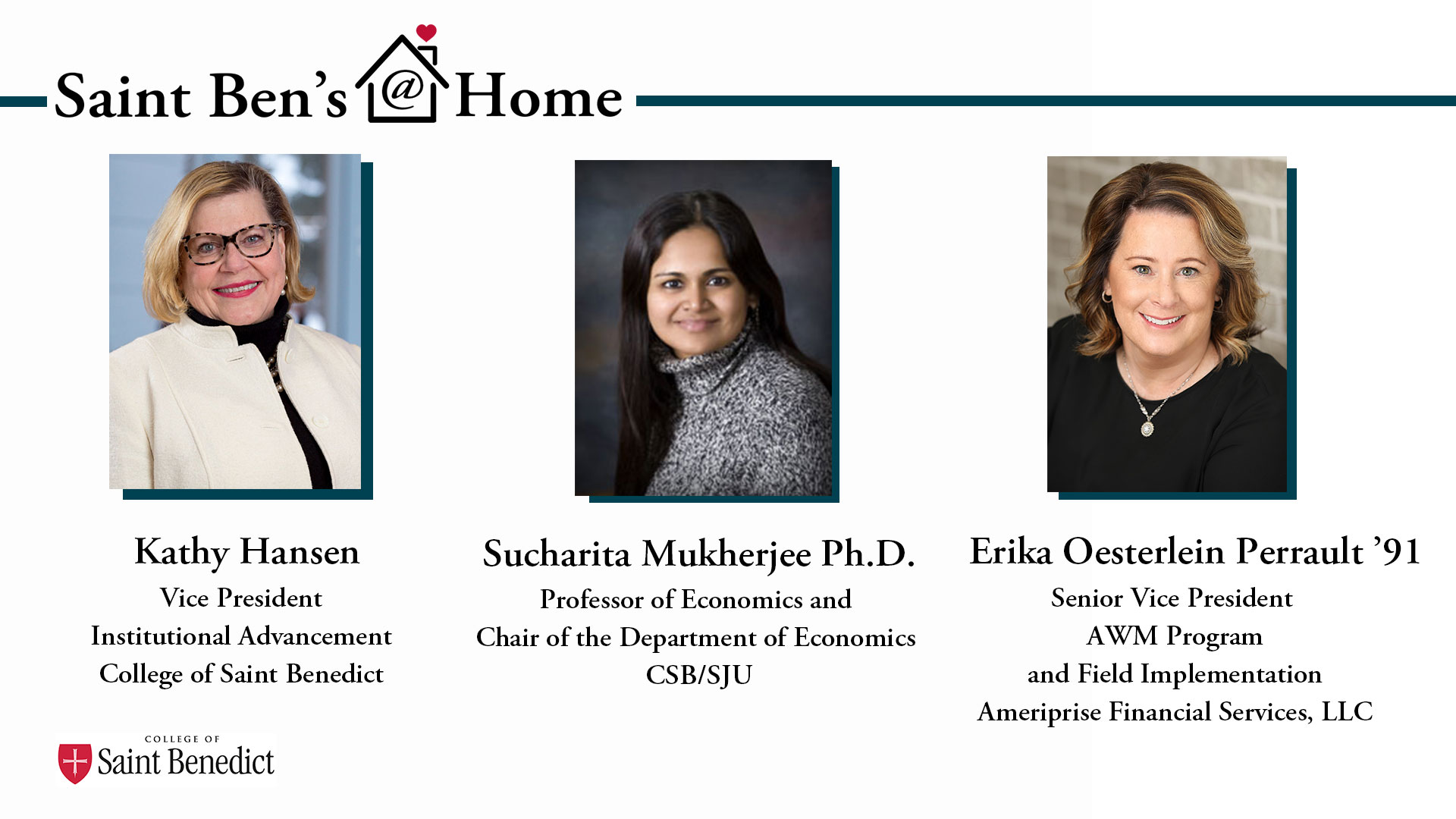 Image for Saint Ben's @ Home: The Economic Impact of the Pandemic on Women webinar
