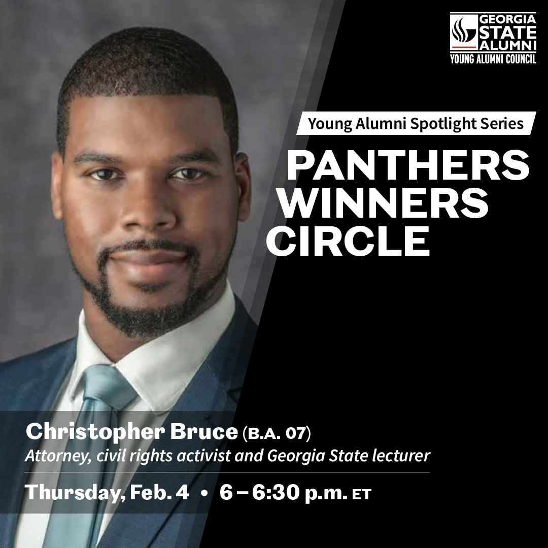 Image for Panthers Winner Circle: Young Alumni Spotlight Series featuring Christopher Bruce webinar