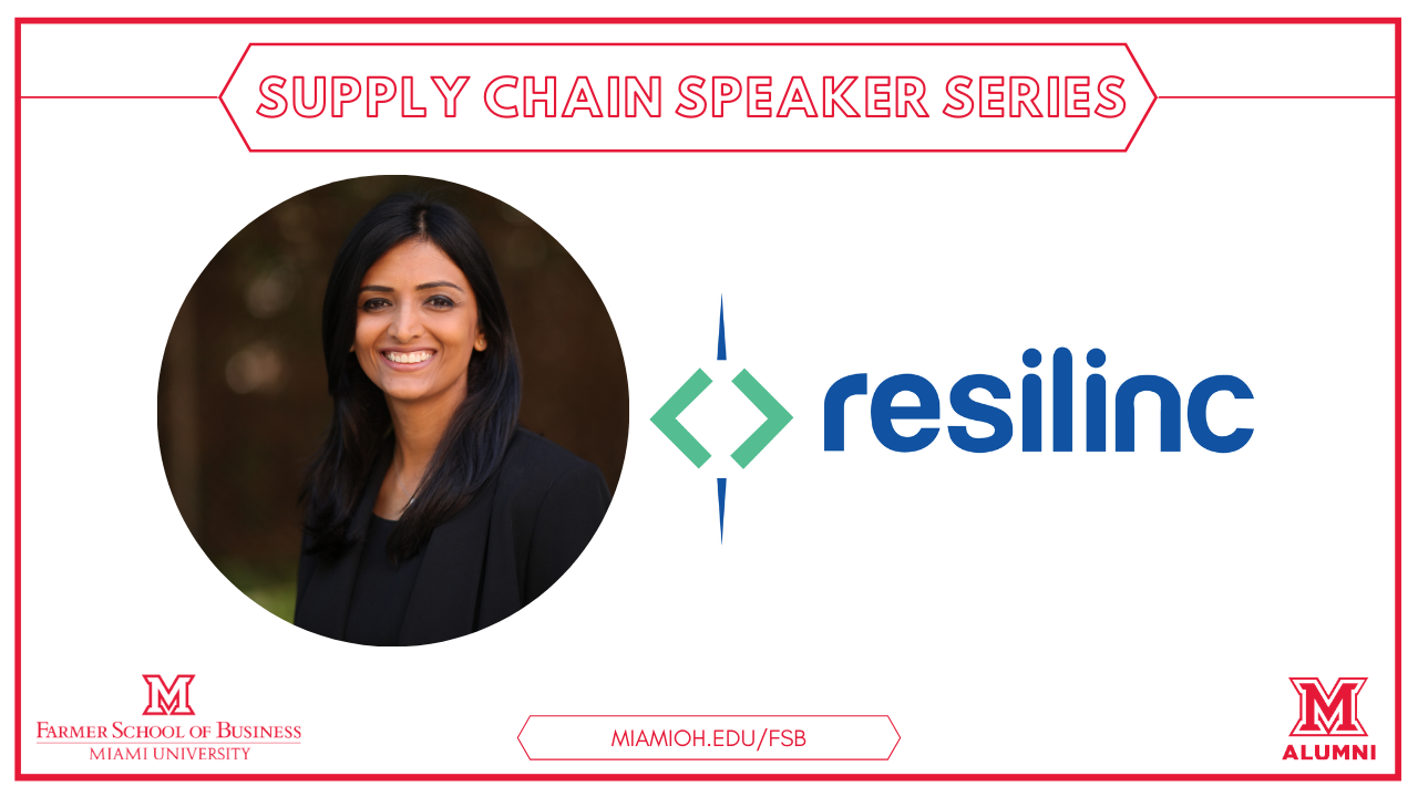 Image for The Farmer School of Business Presents: Bindiya Vakil, CEO and Founder of Resilinc webinar