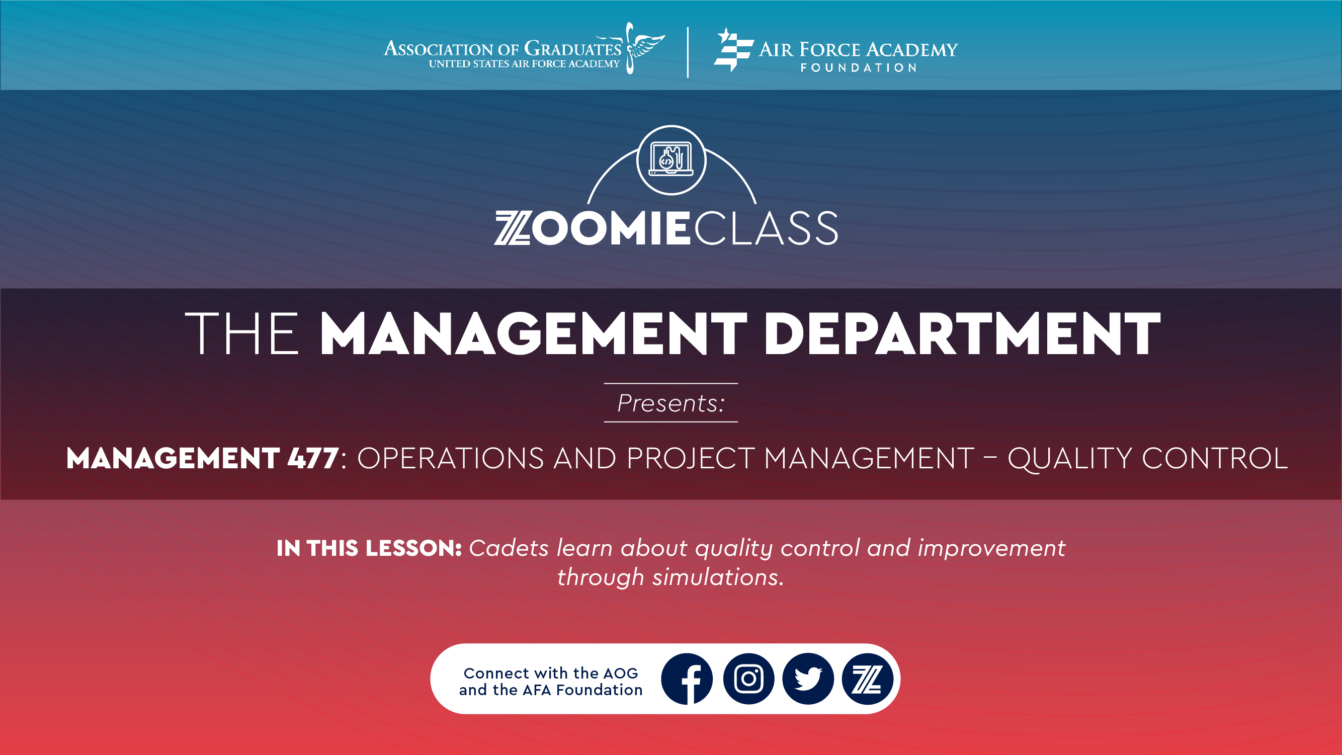 Image for The Management Department: Management 477--Operations and Project Management webinar