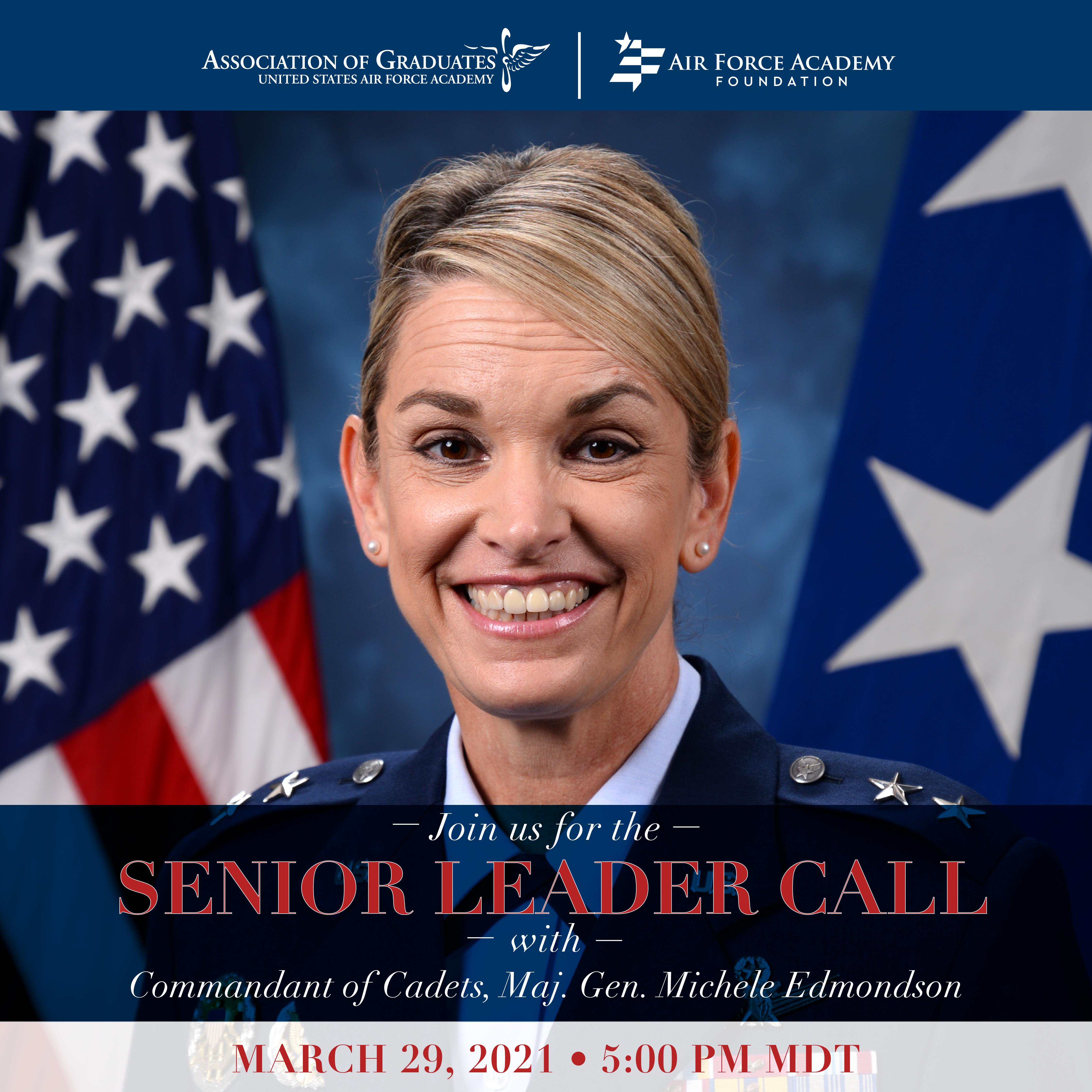 Image for Maj. Gen. Michele Edmondson Senior Leader Call webinar