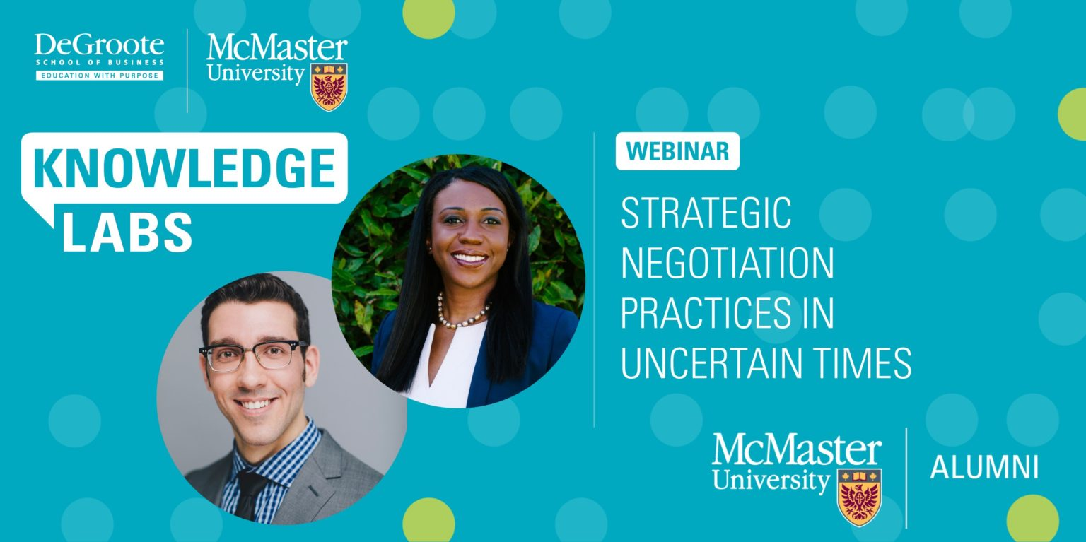Image for Knowledge Labs : Strategic Negotiation Practices in Uncertain Times with Tanya Walker, BCom 02 webinar