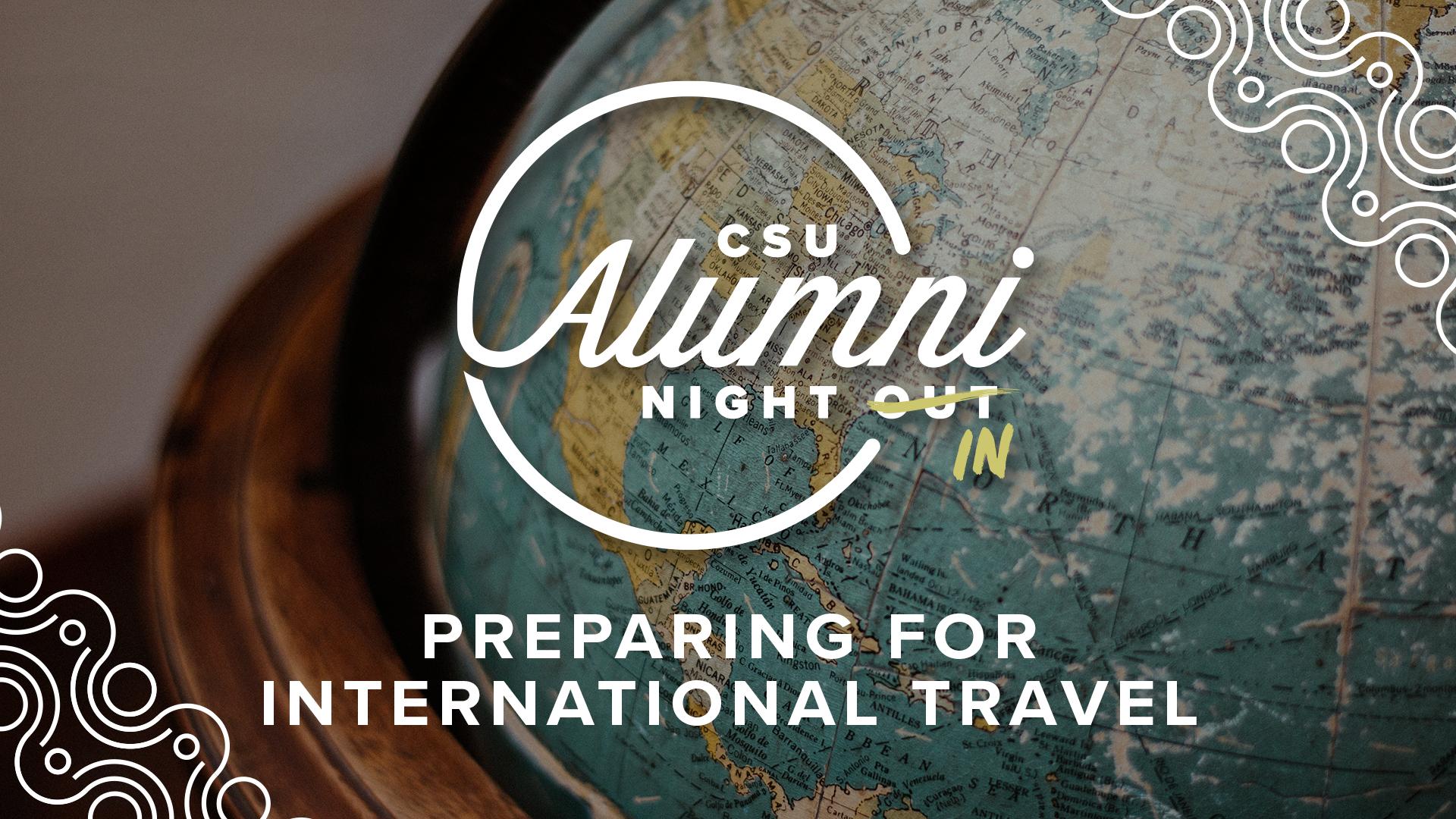 Image for Alumni Night In: Preparing for International Travel webinar