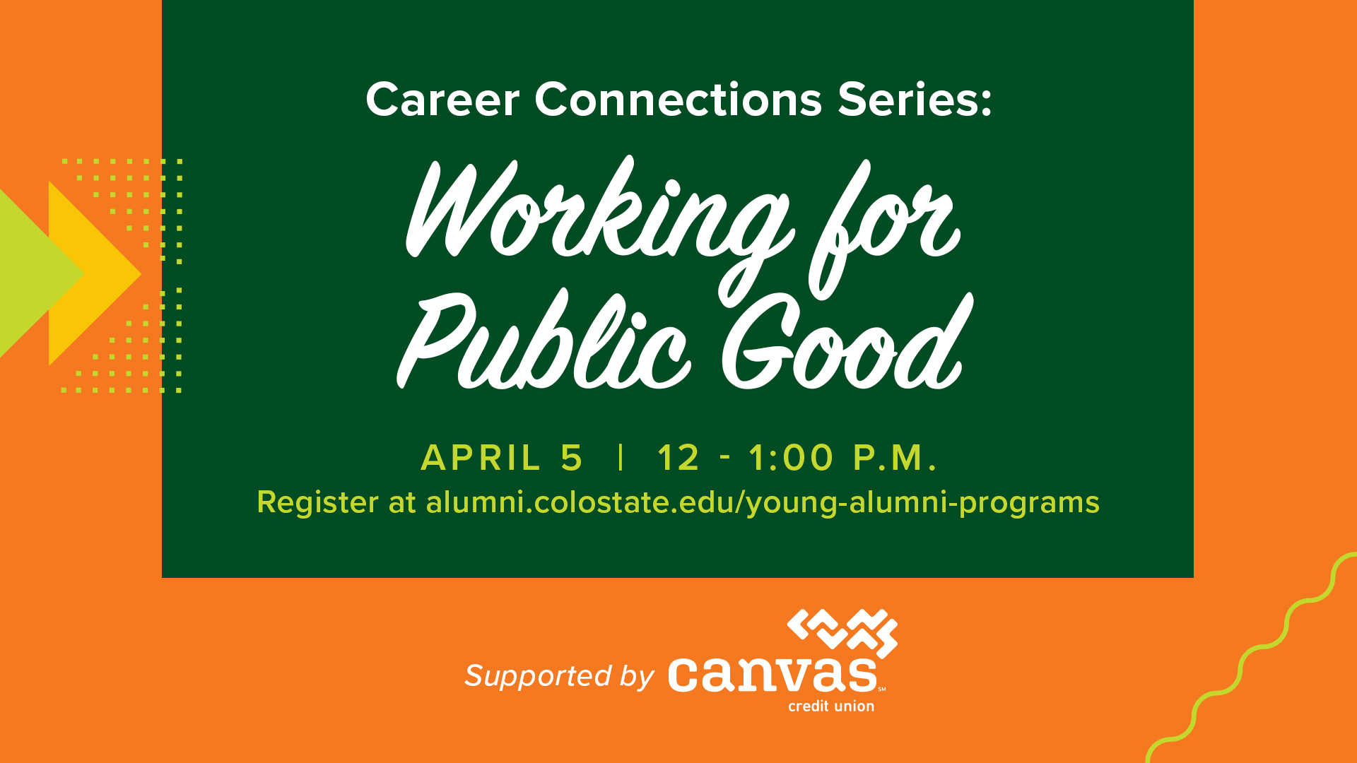 Image for Career Connections Series: Work for the Public Good webinar