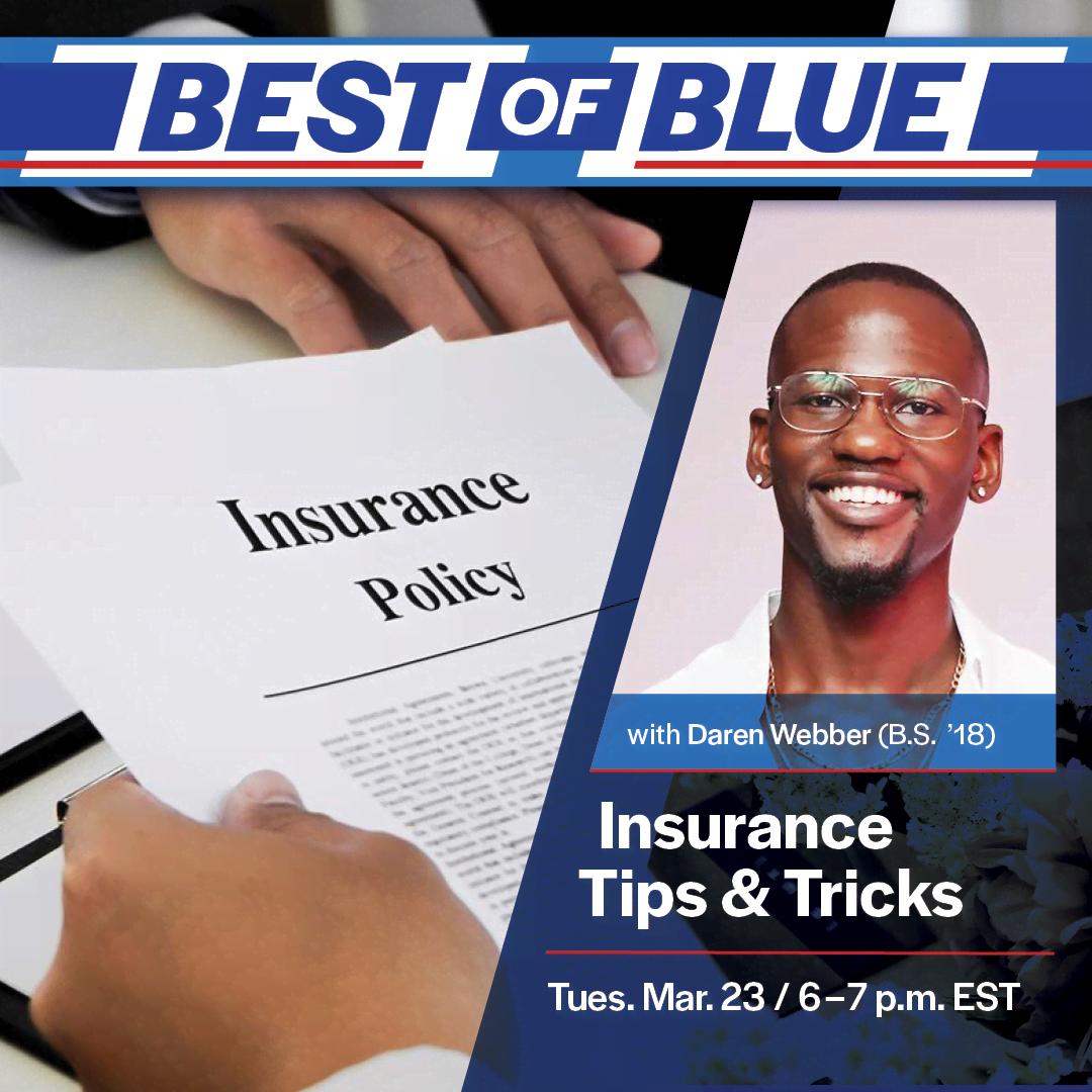 Image for Best of Blue: Insurance Tips & Tricks webinar