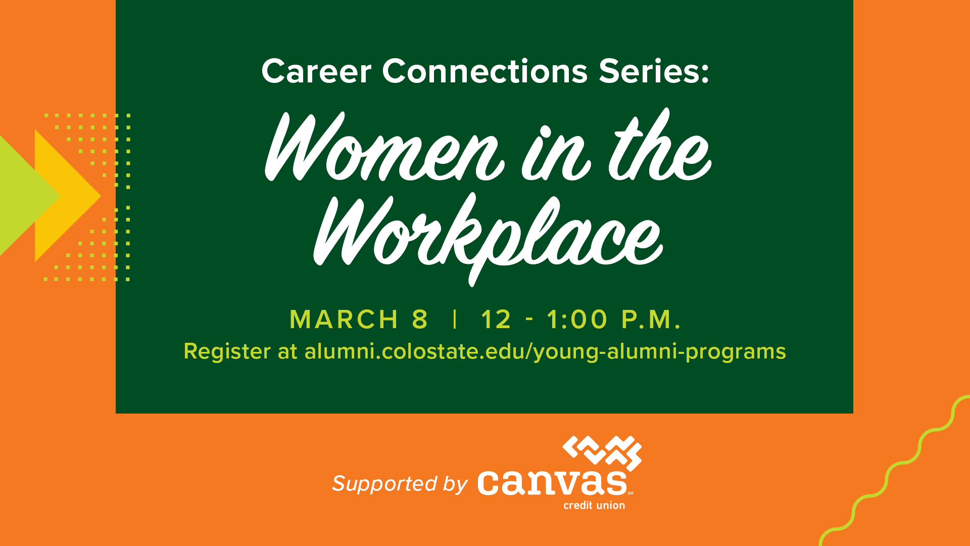 Image for Career Connections: Women in the Workplace webinar