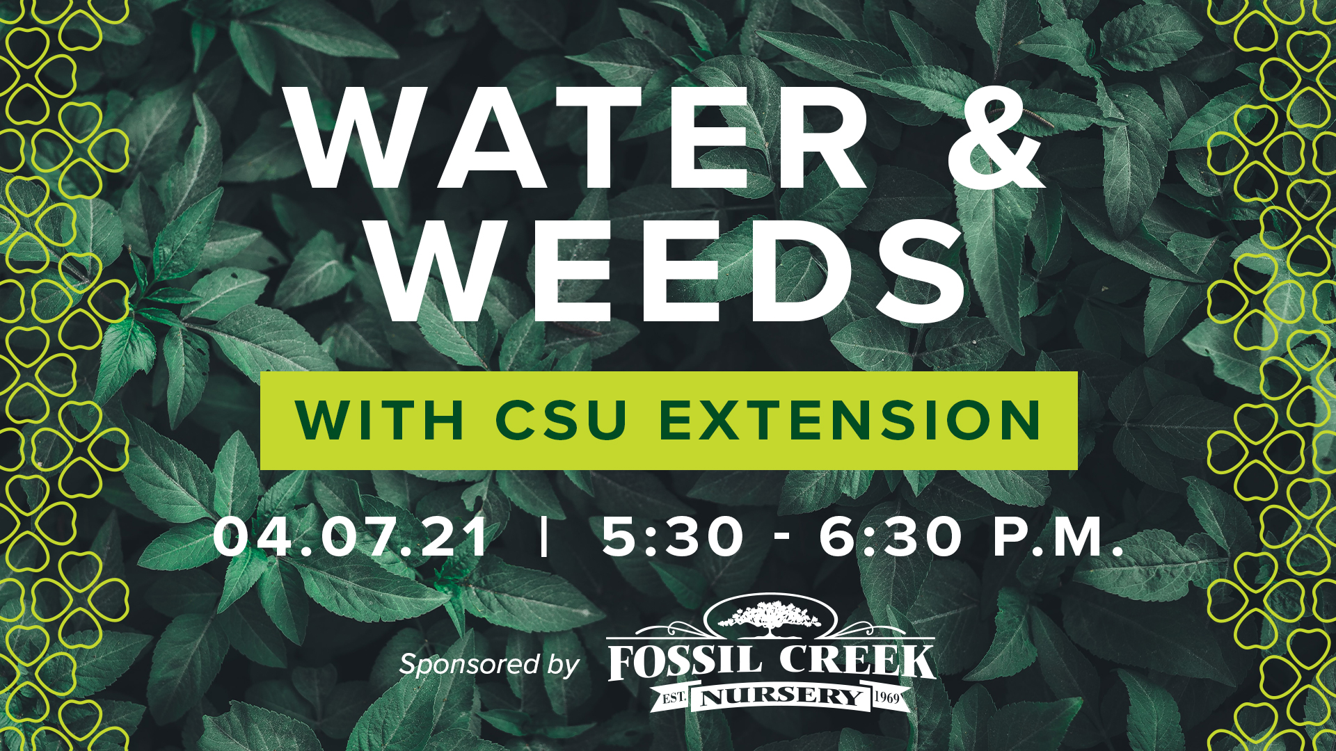 Image for Gardening Series with CSU Extension: Water and Weeds webinar