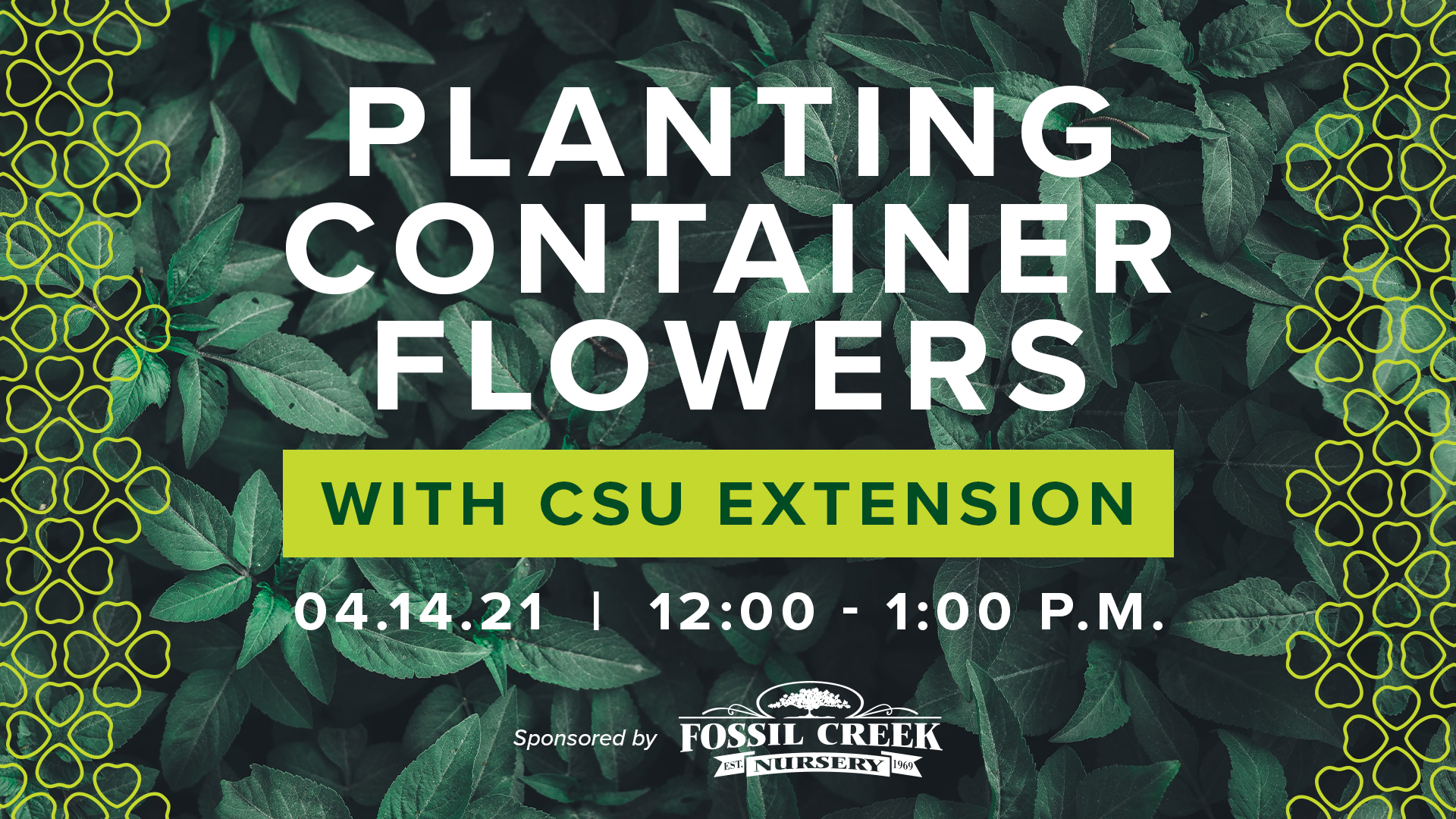 Image for Gardening Series with CSU Extension: Planting Container Flowers webinar