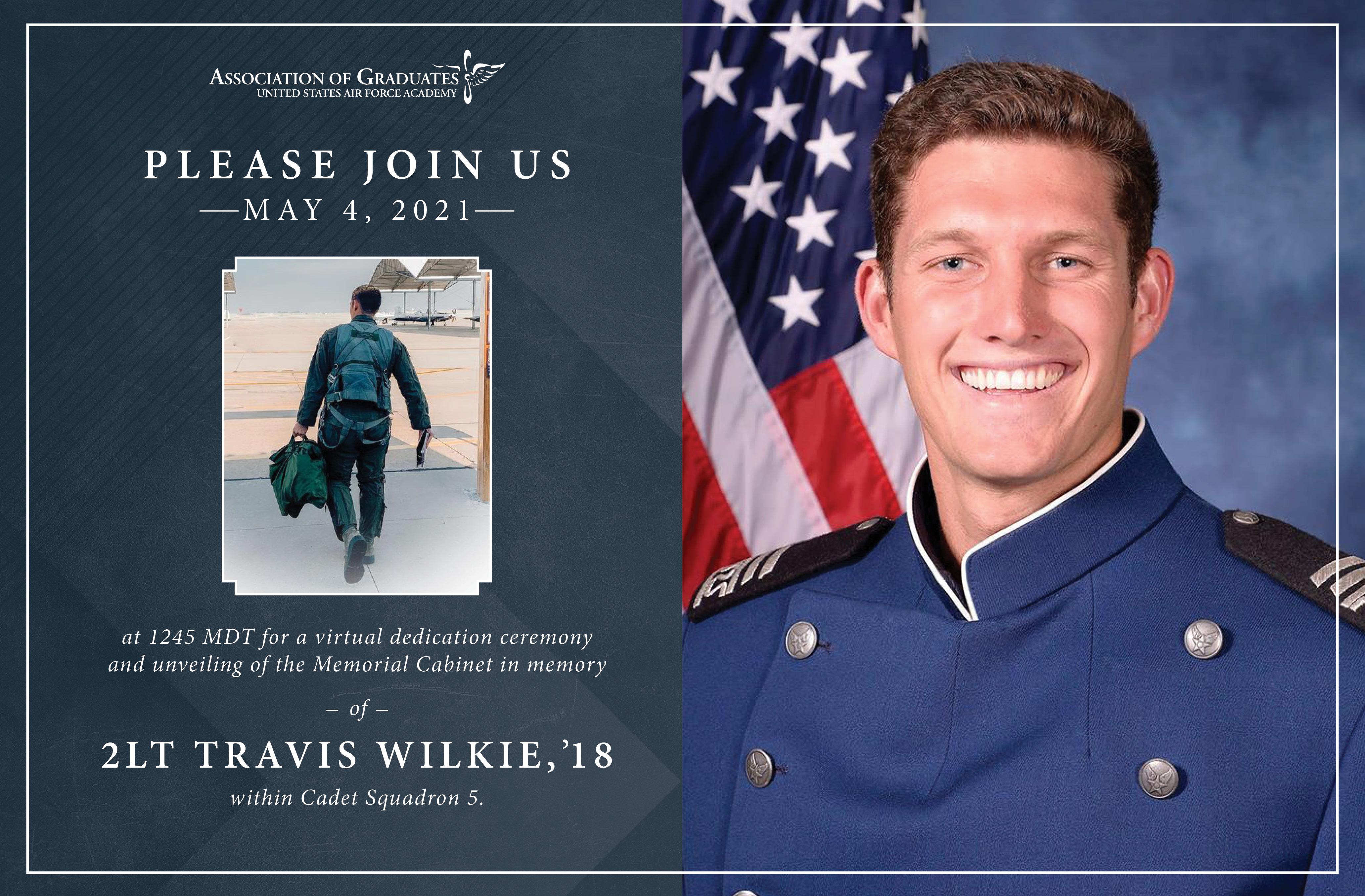 Image for Memorial Cabinet Dedication Ceremony in Memory of 2Lt Travis Wilkie webinar