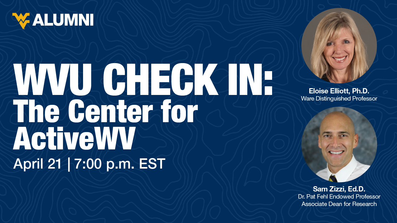 Image for WVU Check-In: The Center for ActiveWV webinar