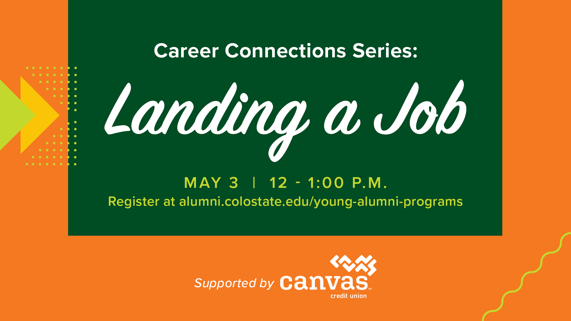 Image for Career Connections Series: Landing a Job webinar