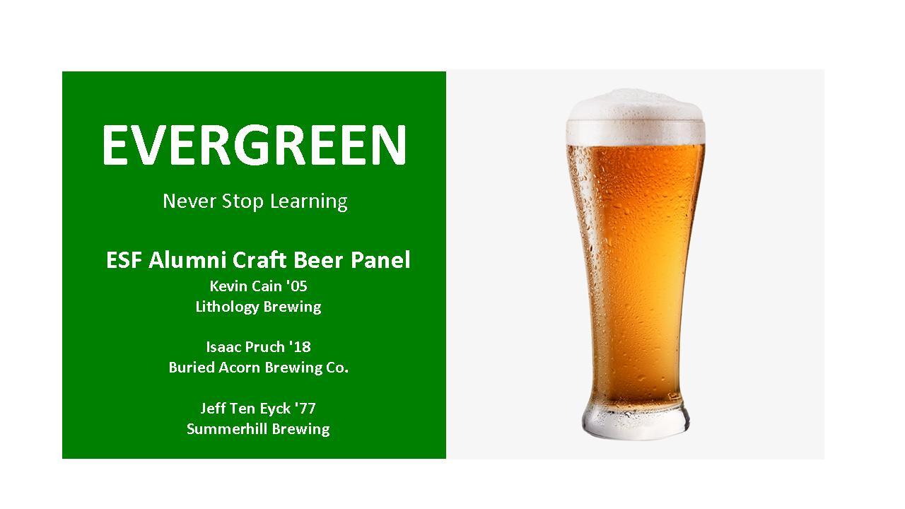 Image for ESF PRESENTS:   Alumni Craft Beer Panel webinar
