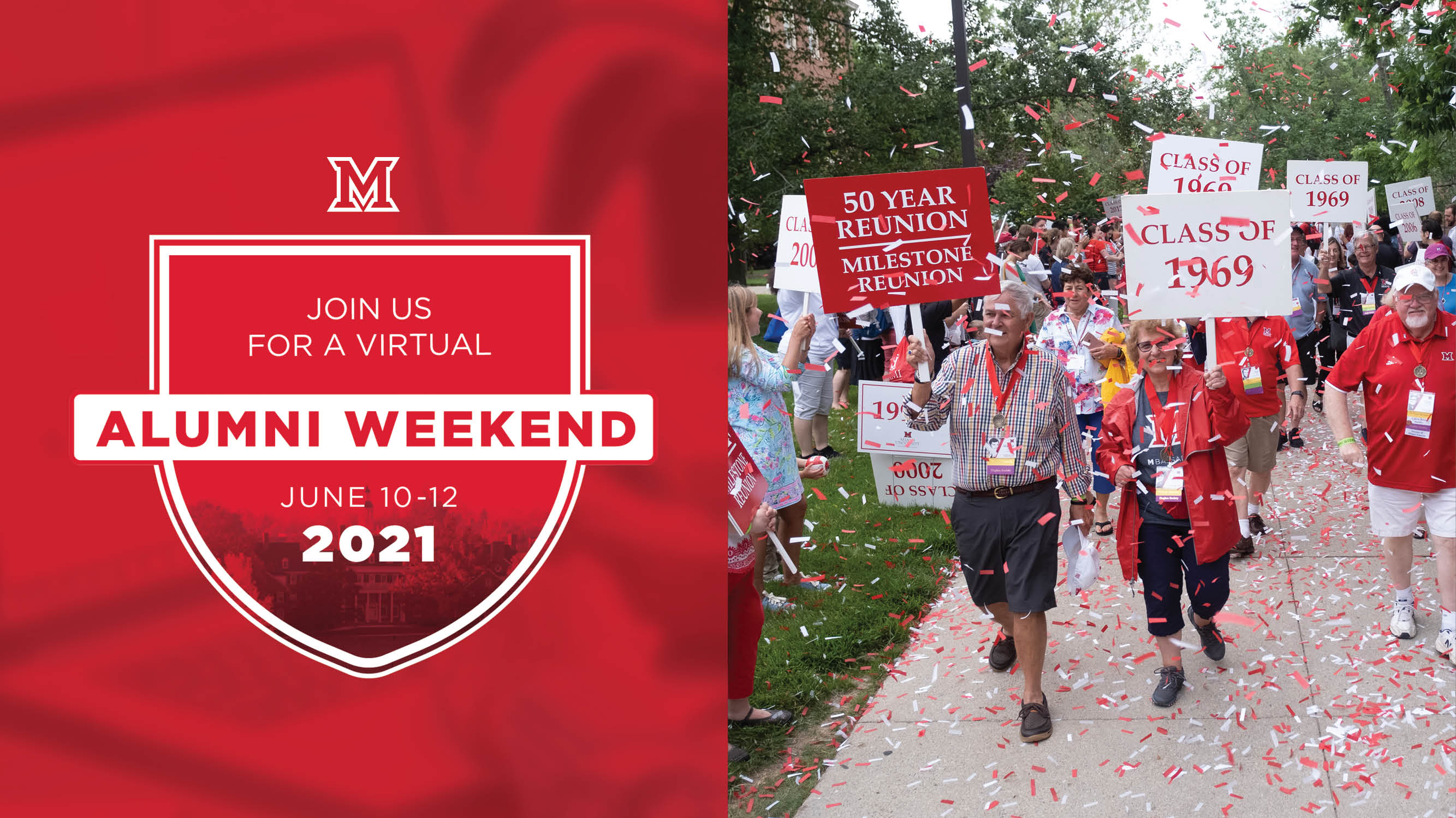 Image for Miami Presents Alumni Weekend: Parade of Classes and MiamiFest webinar