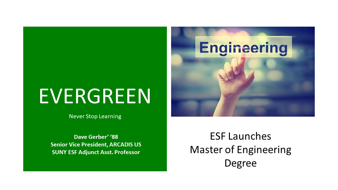 Image for ESF PRESENTS:  Coming this Fall: Earn a Master of Engineering at ESF webinar