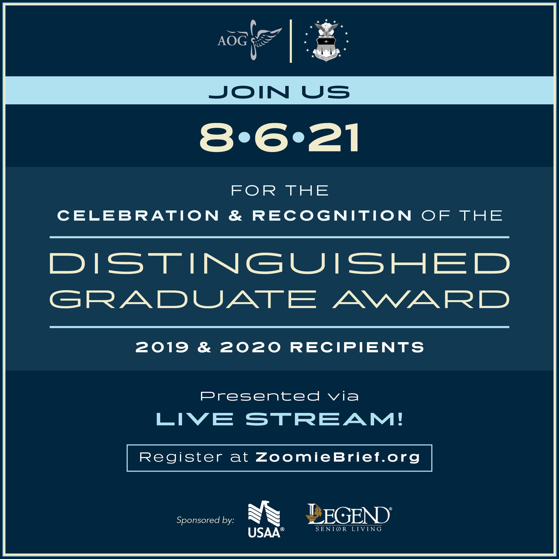 Image for Distinguished Graduate Award Banquet | Live Stream webinar