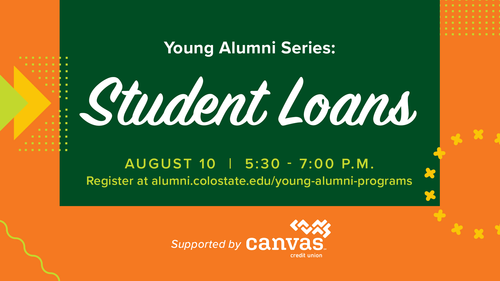 Image for Young Alumni Series: Student Loans webinar