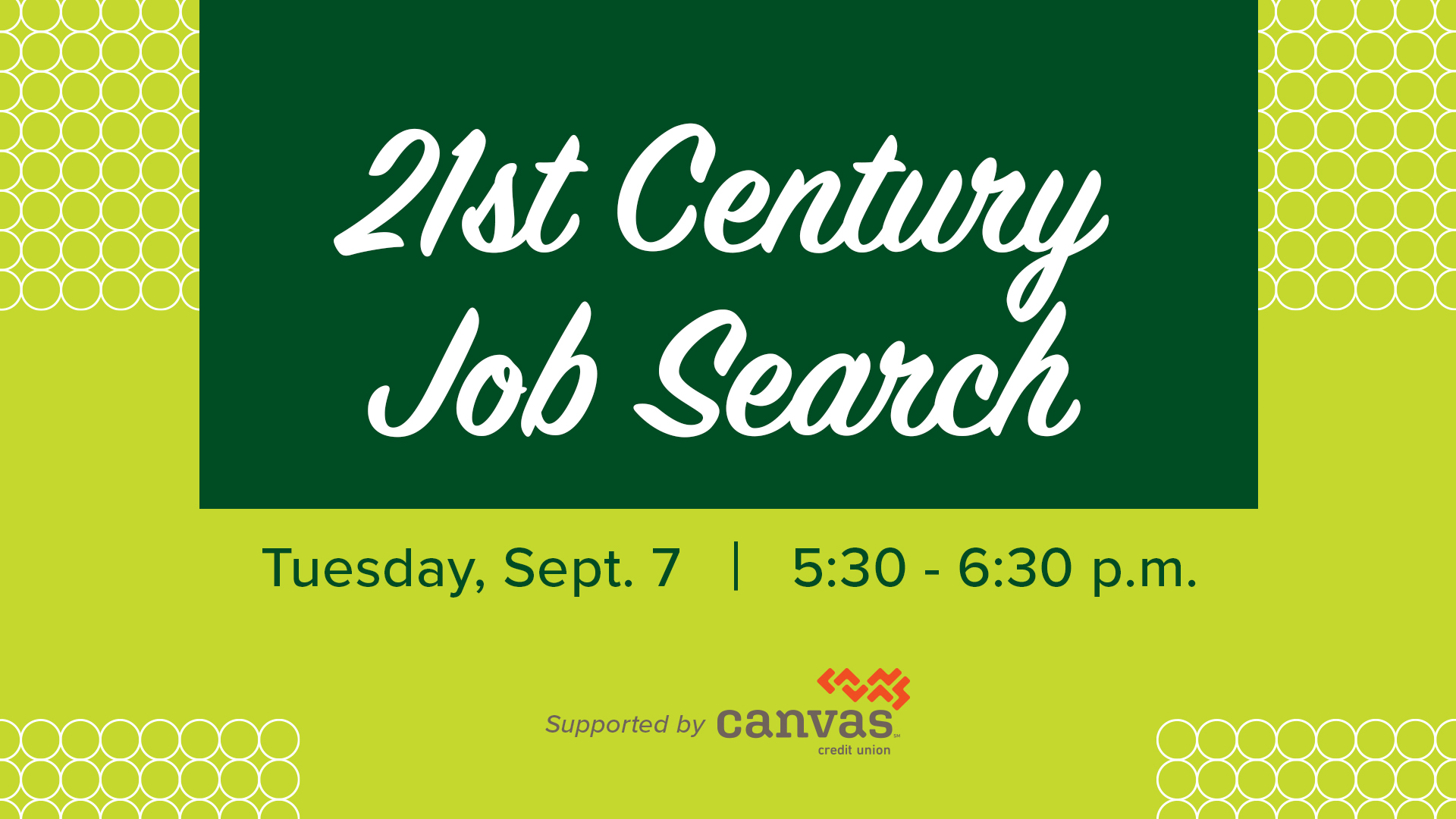 Image for 21st Century Job Search webinar