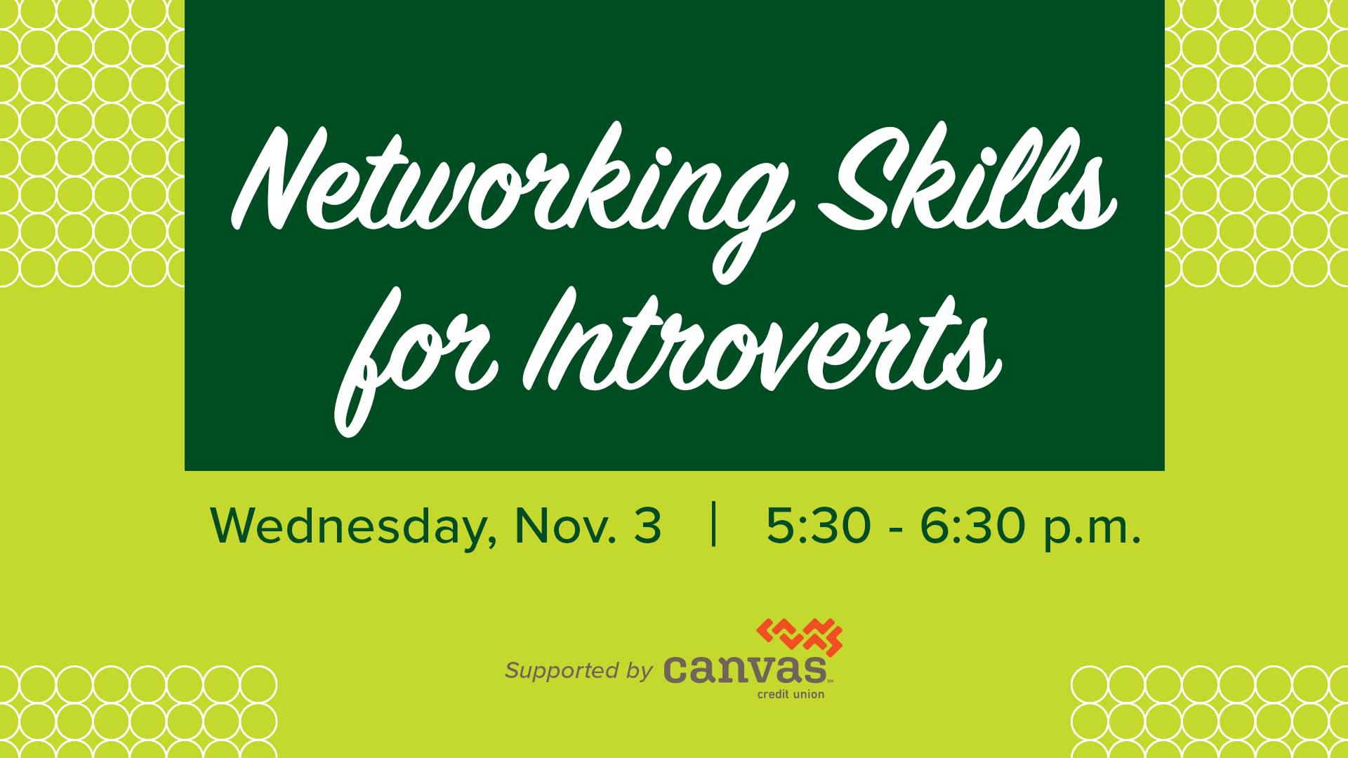 Image for Networking Skills for Introverts webinar